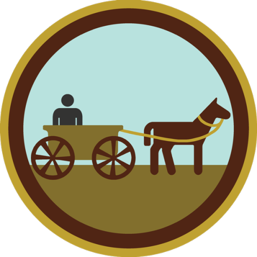 lifescouts:  Lifescouts: Horse-Drawn Cart Badge If you have this badge, reblog it and share your story! Look through the notes to read other people's stories. Click here to buy this badge physically (ships worldwide). Lifescouts is a badge-collecting community of people who share real-world experiences online.  On m mum's birthday we took a ride on the horse-drawn carriage. Because I was the youngest, I got to sit up front with te driver. He even let me have a turn driving! I was a little scared but the horse did exactly what I told it too! I was so impressed with myself. Later I realised the horse pretty much knows the route we were taking by heart, so my driving skills were irrelevant 😝
