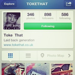 GO FOLLOW @tokethat ! Fresh garms for the herbal smoker! #toke #tokethat #carrotgang #wdywt #igsneakercommunity #copthat #follow