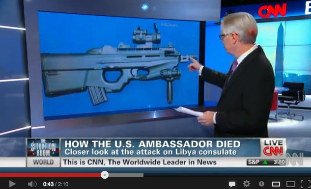 "Was an FN F2000 assault rifle used during the Benghazi Consulate attack that led to the death of US Ambassador Christopher Stevens? Well, according to CNN, it was.   But, wait a minute. What is this CNN report based on? Here's what the anchor says (00:40-00:50):      An expert at GlobalSecurity.org tells us it is likely that the rifles being used were AK-47s and Belgian F2000s. The country is littered with these, from its many years of war.      In these two sentences, which took 10 seconds to be pronounced, several things are not accurate. Let's focus on one thing: Libya could hardly be littered with FN F2000 assault rifles, since only 367 of these were sold to Gaddafi in 2008, shipped in 2009 and used by the 32nd ""Khamis"" Brigade in 2011 against protesters, at first, and opposition fighters thereafter. For more information about the F2000s delivered to Libya, see here. While it is possible that the Sep. 11, 2012 attackers were equipped with FN F2000 assault rifles, this assumption needs to be verified on the ground. We contacted the GlobalSecurity.org website, which denied having said that this was the case to CNN. CNN did not reply to our emails asking whether they had tried to gather evidence to support their claims. The US State Department did not wish to comment on an ongoing investigation. In the meantime, UPI ran a story based on CNN's information. This story is anecdotal. But there's some wisdom in it. Nobody talked about it in Belgium. Maybe because nobody saw the CNN, or UPI reports. If anything else, it shows the importance of documenting cases on the ground and it could stand as a lesson for journalists who have to deal with and report on the arms trade and armed conflicts. Accuracy is paramount. Many inaccurate things can be said in 10 seconds. And they will be talked over for days. What would bring a public debate based on pieces of information that are not accurate? It will take days to document a case, to dig deep and check the facts. The result of this kind of work is more interesting."