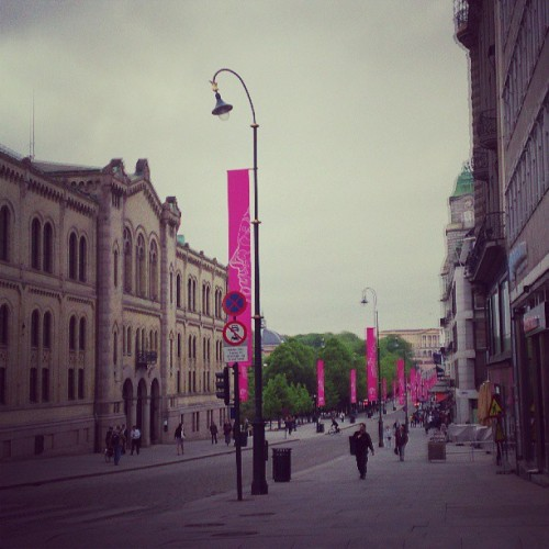 God morgen:) (ved Karl Johans gate)