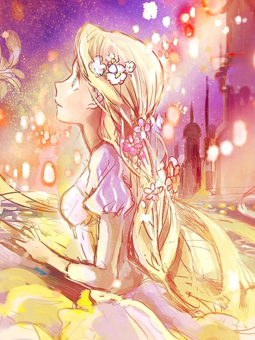 "utadasam72:  Rapunzel ( Tangled ) By:""Fly"""