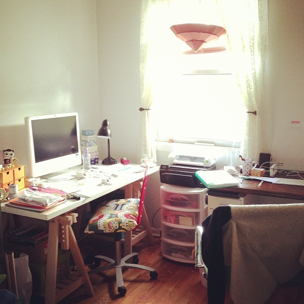And the workroom/office of @tweats and @francesblank