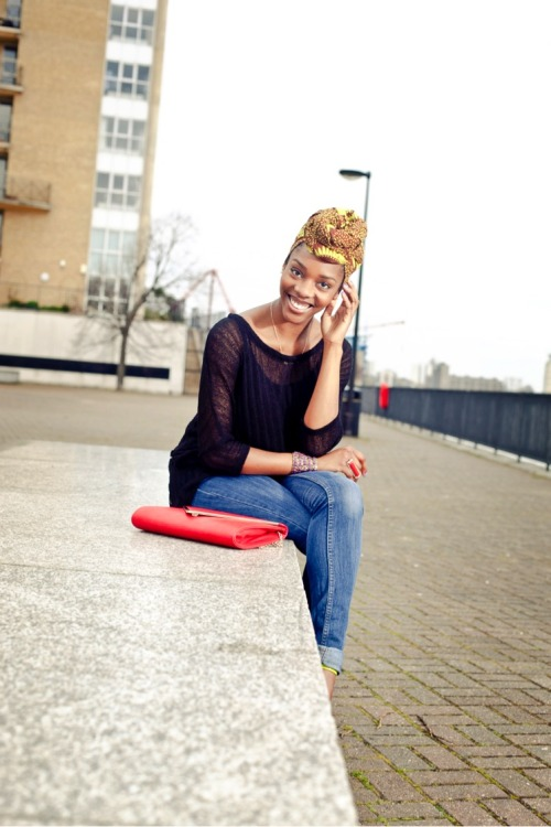 blackandkillingit:  All things Ankara…  Her smile