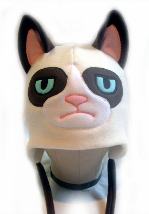 Etsy thing of the day: Grumpy Cat, the hat Keep your ears warm and show the entire world your scorn with a single hat! Link