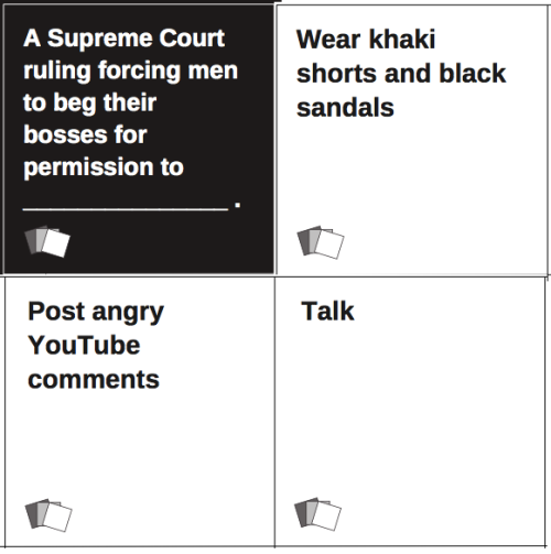 ladiesagainsthumanity:  So many of you had awesome responses to this black card (only ~60% of which were variations on masturbation, nice work ladies!), but these three were the ones that made me lol. Clockwise from top, white cards by katrinarosa, @rock-it-ship, and @bigawkwardgirl.
