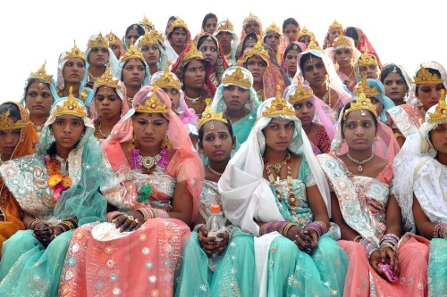 "nevver:  ""The happiest day of your life"", Hindu brides"