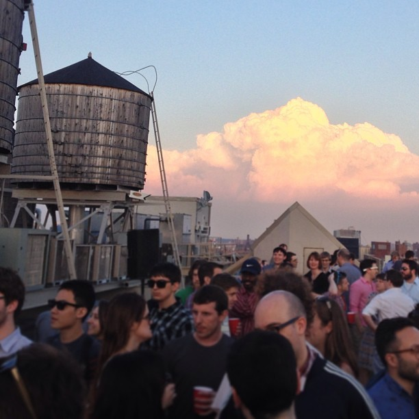 #mushroom #fluffy #clouds #100meetup  (at Meetup HQ Roof Deck)