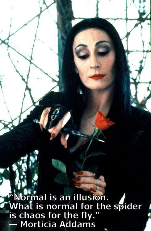 "They used to hurl the name ""Morticia"" at me as though it was an insult. It was a badge."