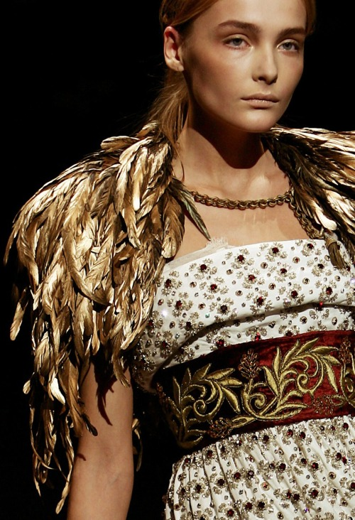 Snejana Onopka at Dolce and Gabbana f/w 2006