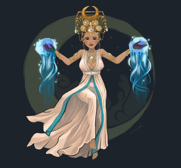 Libulan - the goddess of the moon. Libulan has the ability to manipulate the power of the moon.