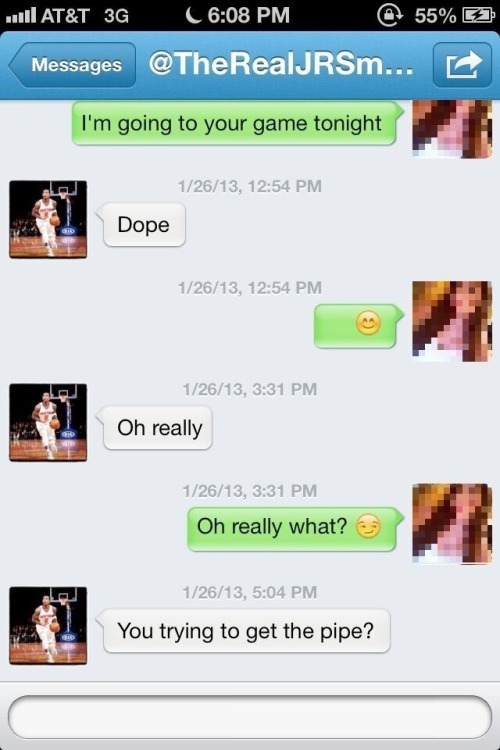 stationtostation:  J.R. Smith is for the ladies!  YOU TRYING TO GET THE PIPE?