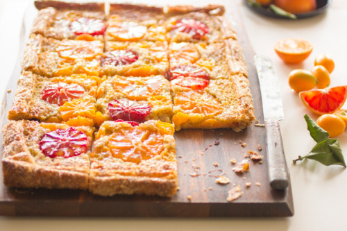 rustic citrus almond tart click here for recipe