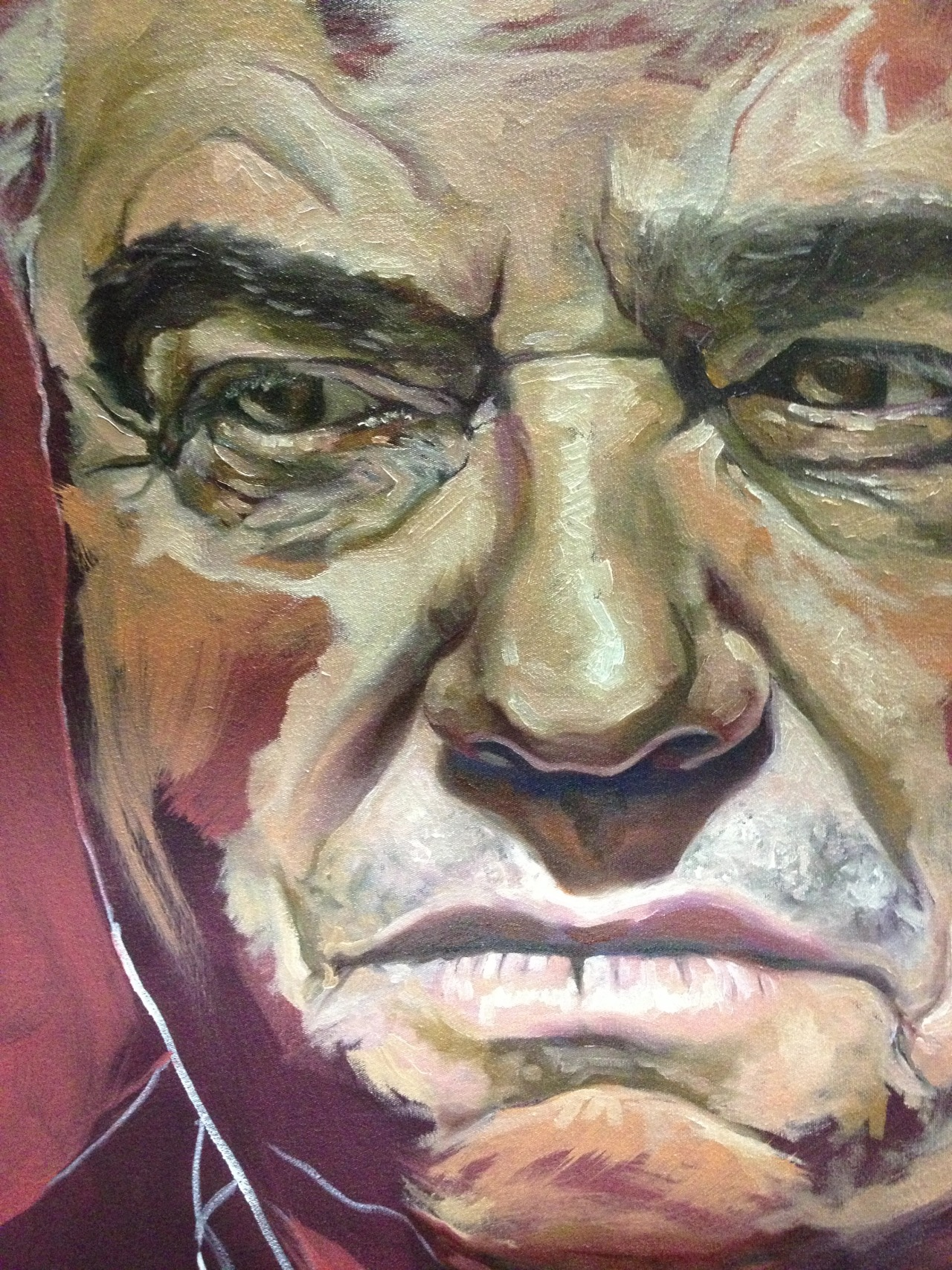 I'm painting a picture of my daddy, who is pretty much the best person on Earth. I am still boggled as to how it took me so long to do this but I'm glad it is now and I'm also glad it is at Bernie's Studio. I started at 4pm today and didn't stop till 8:30pm.  I would have gone all night…
