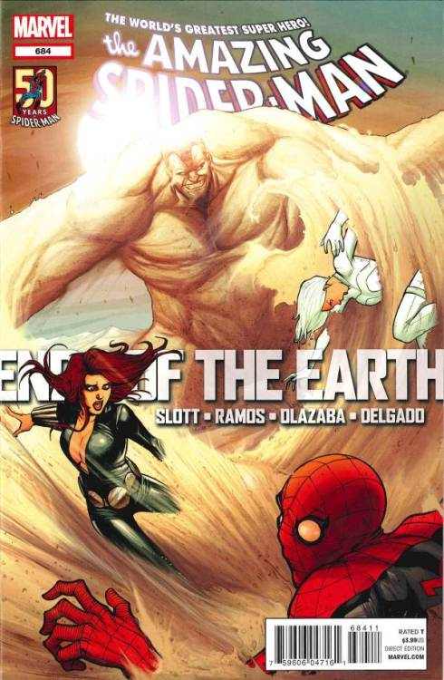 Amazing Spider-Man #683, June 2012, written by Dan Slott, penciled by Humberto Ramos