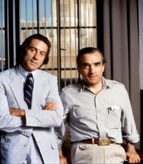 Robert De Niro and Martin Scorsese on-set of Cape Fear (1991)
