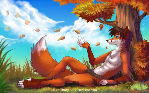 renakakib:  Autumn fox (Art by Imanika) by Zvermarkiz