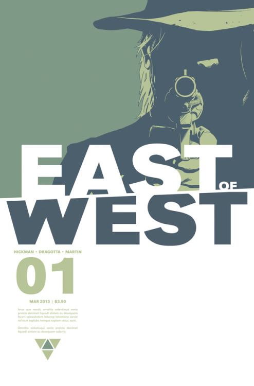 "Comic Book Review Is East of West the next big Image title? Among a slew of new Image titles, we get East of West from the creative team of Johnathan Hickman and Nick Dragotta. The question remains, will East of West be the next Image title to follow series such as Saga and The Walking Dead and gain colossal popularity? It seems to have the potential. - A picture is painted of an alternate world which begins following the Civil War. A meteor strike changes the course of history forever, resulting in the United States being divided into several different regions. In the year 2064, our story shifts to the rebirth of three of the four horsemen of the Apocalypse (Conquest, War, and Famine.) They soon discover that the fourth (Death) is not among them. The three decided that he has gone rogue and that they must bring about his demise. The reminder of the story follows Death and his companions as they wreak havoc and distraction, ending in Death's assassination of the President. Albeit slightly complicated and wordy, Hickman does a masterful job laying out his narrative. Due to an intriguing story complemented perfectly by the artwork of Nick Dragotta, East of West has all of the makings of ""the next big thing."" SCORE: 8.5/10"