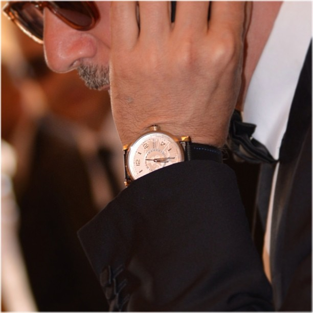 Director Michel Hazanavicius's gorgeous #Montblanc timepiece at the #Cannes Film Festival. More on the blog soon.  @Montblanc_World  http://00O00.blogspot.com (at Montblanc Boutique)