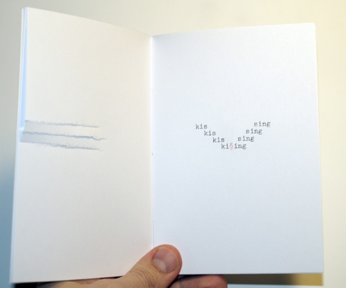 "visual-poetry:  ""anachronism"" typewriter-poems by anatol knotek unique, handmade chapbook, 16 poems, DIN A6, with sewn bindings; usually a book is just a copy - but not this one. every work is written individually with a typewriter, so each single page is unique, but also the contents varies. out of a pool of about 50 poems i chose 16 for each book. i will give away three unique books for free!if you want to have the chance to get one, all you need to do is one of these things: reblog this post write something about the book/my work on facebook, twitter or on any other social network/blog… (and send me the link) (please make sure, that i can contact you) i will announce the three winners (who will be randomly chosen and also contacted individually) on march 3rd, 2013 here on this blog. good luck :) [if you like to buy the book, please contact me on tumblr or via email: anatol(at)anatol(dot)cc]  i wouldnt mind one of these :) my grandfather owned a tipewriter and passed it down to me when he passed, sadly i was but an infant at the time so it was never given to me and soon aged past the point of salvation and we had to dispose of it, so anything pertaining to typwriters and typewriting has a special place in my heart"