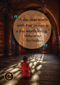 islamographic:  A day that starts with fajr prayer, is a day worth living - Allahu Akbar!