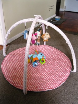 - baby - i up-cycled an old, damaged baby play mat and gave it a new lease of life as this cute pink one for Stella :-) featured on my blog: http://www.laaperdesign.com/2013/05/my-creations-baby-play-mat.html