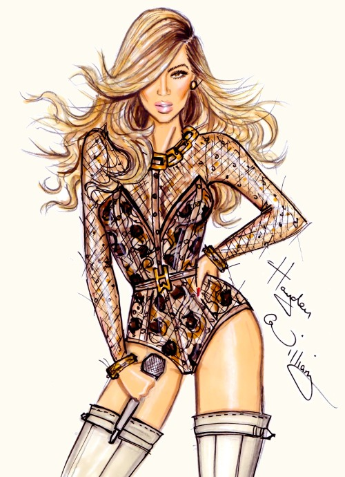 haydenwilliamsillustrations:  'Beyoncé to the stage' by Hayden Williams