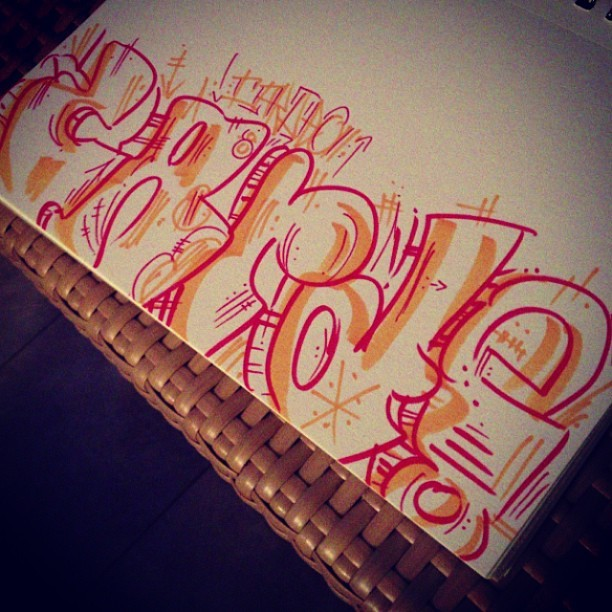 Little #cardeo throw up before we head to the bar #sketch #streetart #graffiti