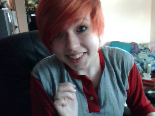 OY. I DYED MY HAIR. I haven't been on Tumblr in so long, oops.