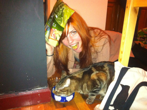 "vicemag:  What Cat Food Tastes Like While preparing dinner at a friend's apartment a few nights ago, I asked if their cat should eat too. Then someone fed the cat. Then I asked if I should eat cat food too. Then people said ""yes"" and I did. I think that's how it happened. I know it started as a joke but then it tasted surprisingly OK. Later at a deli I excitedly selected cans of wet cat food for a taste-test experiment I promised myself I'd do first thing in the morning. After my hangover subsided, I felt more able to seriously consider two futures: the one where I'd never know what wet cat food tasted like, and the one where I would. In both futures I'd eventually end up dead, but the one where I'd eat cat food seemed more exciting. With that said, actually making myself eat the canned reconstituted meat morsels took longer than anticipated. I succumbed to misguidedly productive acts like finding ""the perfect eating-cat-food outfit"" (pink striped dress: too naive; button-down under a black sweater: too smart; red flannel dress: just right?), photo-testing locations for the best place to eat (a plate on the floor: obvious and kitschy; sitting at a table: unrealistically ordinary; bed: psychotic), and letting ""research-based"" internet activity devolve into gawking at YouTube videos about cannibalism and falling asleep with a knife under my pillow. OK. Enough explaining, I'm introducing this like I've committed a sex crime or something. I ate some cat food. That's all that happened. Here's what I thought. Purina Cat Chow: Naturals Plus Vitamins & Minerals Packaging: 16-ounce green bag with a Ziploc seal for freshness. Features colorful clip art-like illustrations of vegetables, grains, and a woman resembling Mona Lisa sleepily nurturing a happy, attentive cat on her lap. Aroma: A little vitamin-y. Texture: Harder than Captain Crunch, but denser, so it didn't make those little cuts on the roof of my mouth. Moist enough so there was no fight to combine it with saliva, but crunchy enough to not let me forget I was chewing. Flavor: I remember saying ""it's like those 'Chicken in a Biscuit' crackers"" and ""it's 'umami,' do you guys know 'umami,' that new taste called 'umami?'"" There was a tangy aftertaste. It wasn't unpleasant at all. Ate a few voluntary handfuls. Beverage pairing: An affordable sparkling wine. I had been drinking Korbel (Brut, I think) at the time, but a sweeter Prosecco would also fare nicely. Closing remarks: Could be transformed into larger vessels for humans to spread cheese on. Continue"