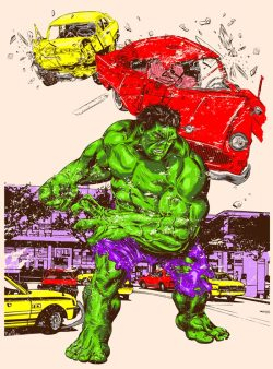 Hulk in the city http://www.threadless.com/Hulk/hulk-in-the-city-3/