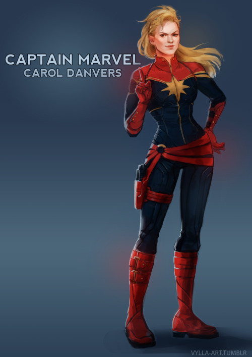 cheeseburgerdanvers:  vylla-art:   Carol Danvers: Captain Marvel - 15/46    WHOA.   Dang. This drawing makes me like her new costume even more! Can she be in the next Avengers movie, please? Just like this?
