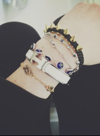 chasingpalmtrees:  kylie jenner, i need the eye bracelets please and thank you http://instagram.com/p/ZGnGN_nGtG/