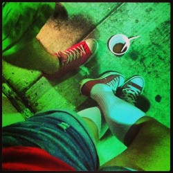 Red Kicks & Red Cups …. #cheers #hood #detroit #stadium #red #kicks  #allstar #shoes #drinks #latenight #trouble #rua  (at The Dirty D)