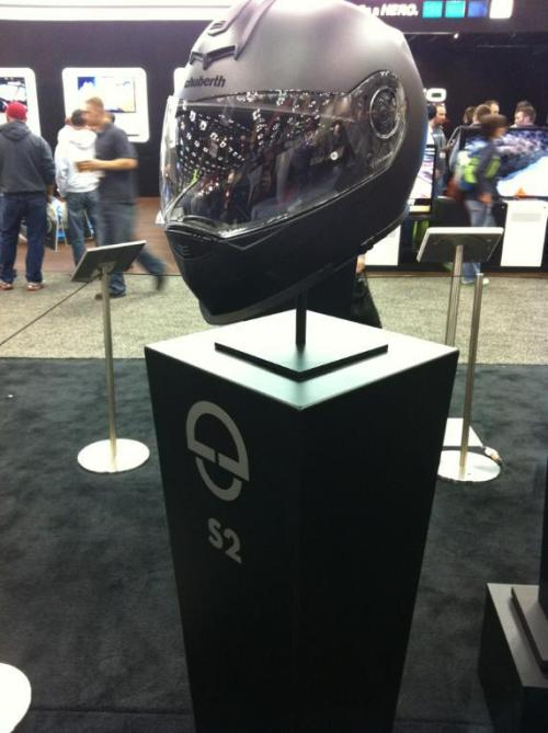 Schuberth S2 Helmet Unveiled New Schuberth S2 Helmet candid from Dealer Expo this weekend. We finally got to smell it. It smelled excellent. On a more serious note, the Schuberth S2, which has been touted as a a non-modular C3, is much more complete and sporty compared to what we were expecting. More to come as we get our grubby hands on it. -TeamZilla