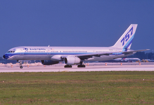 sboutellie:  Eastern Airlines Boeing 757-225; N501EA, May 1987/ AWI (from my collection, not my picture) by Aero Icarus on Flickr.