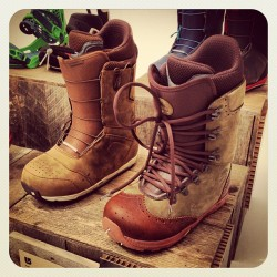 Rad boots by Burton in collaboration w/ Red Wing (left) & Diemme (right) for Fall '13  (at Milk Studios)