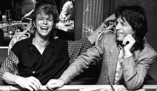David Bowie and Mick Jagger 1987