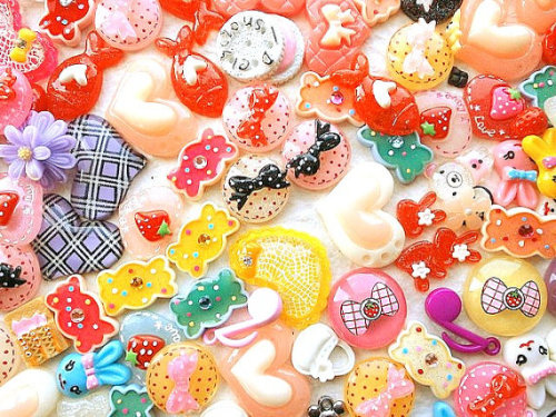 Kawaii Cabochons MIX 100 Set 6 DecoSweets http://www.etsy.com/listing/120056576/wholesale-kawaii-cabochons-mix-100-set-6