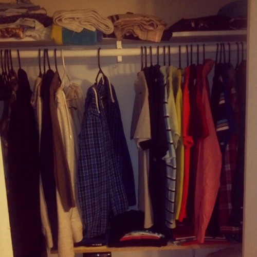 Guess who's closet? Damn. Opposite of mine….