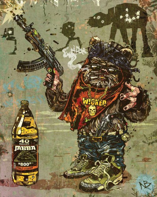 redskullsmadhouse:  Gangster Ewok