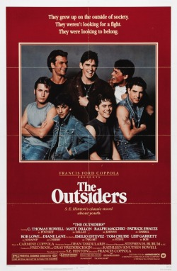 filmsliveforever:  The Outsiders (1983, Dir. Francis Ford Coppola) Starring C. Thomas Howell, Matt Dillon, Ralph Macchio, Patrick Swayze, Rob Lowe, Diane Lane, Emilio Estevez, Tom Cruise & Leif Garrett