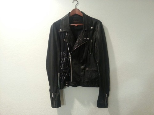 "vph-jawnz4sale:   UNDERCOVER ~ S/S '06 ""T"" LEATHER/COTTON COMBO PERFECTO (SIZE 2) (REALLY RARE) ~$~INTEREST CHECK~$~ (OFFER OVER $1K ONLY IF U R RAPPER)   finna kop to match my girl (7)"