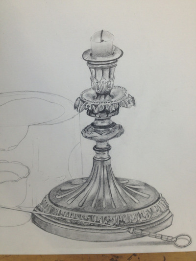 Candlestick in pencil