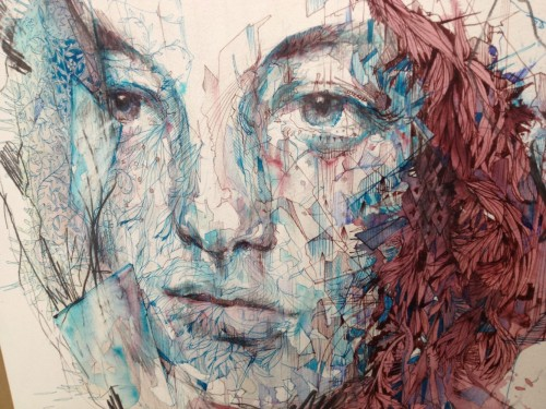 carnegriffiths:  Lost Forever, ink and brandy on bockingford watercolour paper