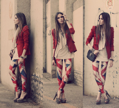 British flag printed leggings
