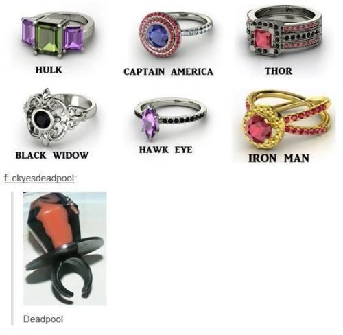 deadpool wade wilson ring pop avengers marvel