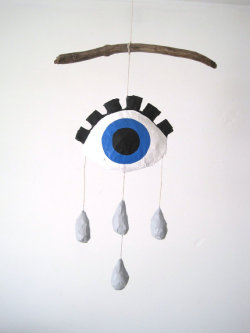 Crying Eye Mobile by jikits on Etsy.