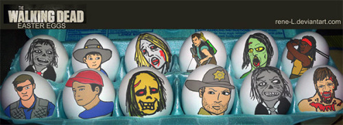 In honor of the season finale of The Walking Dead & today being Easter I bring you Walking Dead Easter eggs!