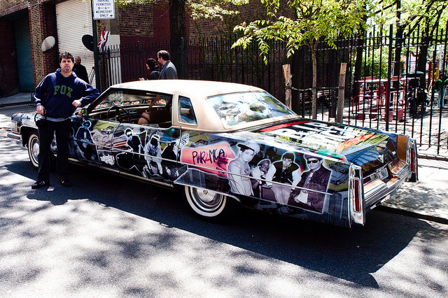 By the Beastie Boys Cadillac following the Adam Yauch park dedication by NewYorkBrass on Flickr.