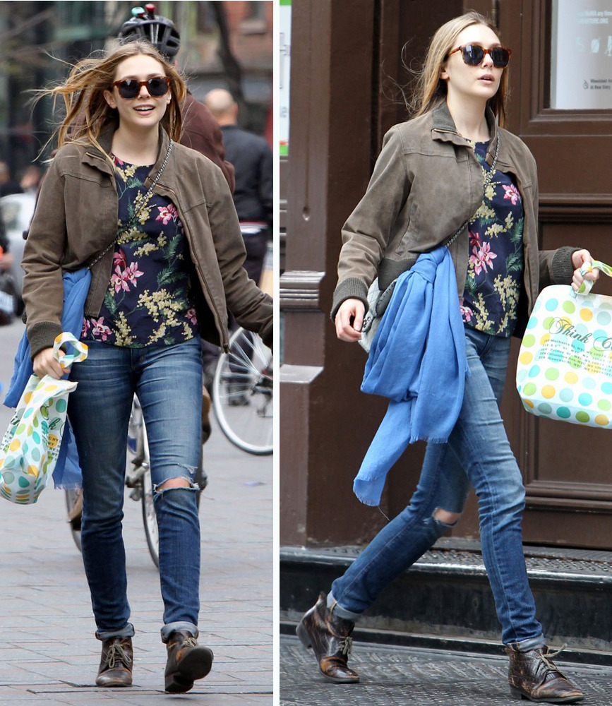 Elizabeth Olsen out in Soho, April 19th